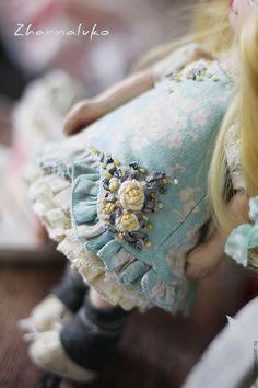 Купить Регина - голубой, кукла интерьерная, кукла текстильная, кукла для девочки, подарок девушке