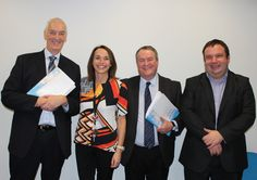 Left to right. David Edmundson, Chair, Families Health & Well-Being Consortium - Angela Allen, Chief Executive, FHWB - Paul Mason, Chair BwD CVS - Garth Hodgkinson, Chief Executive BwD CVS - BwD CVS & FHWB