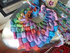 My entrelac shawl in progress.