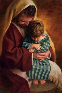 St Joseph and the child Jesus ... too cute!