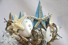 Gorgeous Handmade Shell Mermaid Crown by ScarletHarlow on Etsy