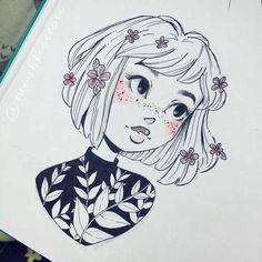 Character design idea drawing inspo in 2019 art, art sketches, art drawings. Doodle Drawing, Drawing Sketches, Painting & Drawing, Drawing Ideas, Drawing Style, Manga Drawing, Sketching, Arte Sketchbook, Sketchbook Ideas