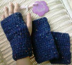 luvas sem dedos em crochet