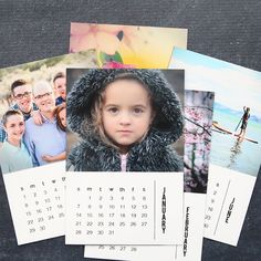 Free templates for a gorgeous DIY photo calendar! Add your own photos to this 2018 magnet calendar for a gorgeous DIY handmade holiday gift.