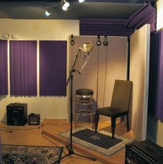 home recording studio! yep purple my fav color. got to have a place in my logcabin to have recording done :) one day ..keepin my dream