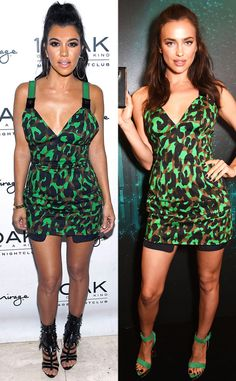 Bitch Stole My Look: Kourtney Kardashian and Irina Shayk Wear Same Versace Scaled down Dresses