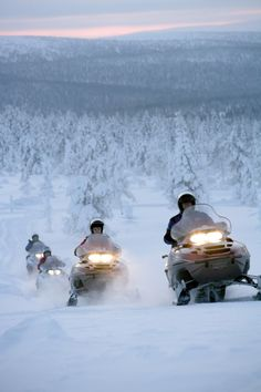 Snowmobiling in Lapland. - would love to snowmobile this.