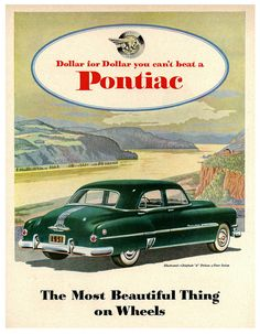Pontiac Chieftain 8 Along The Columbia River Gorge, October 1951.