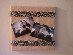 Canvas covered in burlap for pictures