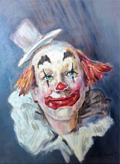 EN BUSCA VERDADERA ALEGRIA Clown Pics, Gruseliger Clown, Circus Clown, Creepy Clown, Circus Theme, Auguste Clown, Image Halloween, Clown Paintings, Image Nature