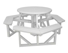 """36"""" POLYWOOD Round Walk-In Picnic Table"""