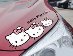Promotion Hot Sales Hello Kitty car stickers the whole body  car  cuper cute Car Styling Car Covers $5.00