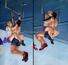 """pariah-arts: """"Last one for winterhawk week. I just don't have another idea unfortunately (if someone has a suggestion, I might see if it sparks the old brainmeats). Ref'ed from an image of a couple doing pullups and I thought it was charming."""""""