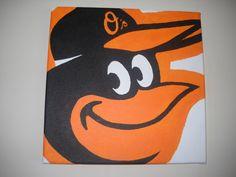 Baltimore Orioles 12 x 12 Oriole Bird Canvas by CharmCityAviary, $50.00