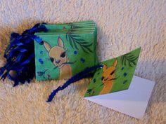 Alpaca with Hummingbird Gift Tags  Mini Cards by mariesimagination, $10.00