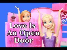 FROZEN Love Is An Open Door Play-Doh Disney Barbie Bathroom Parody Ariel Tangled AllToyCollector