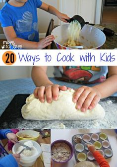 20 Ways to Cook With Kids - These kid friendly recipes will get even the pickiest eater cooking and tasting. Cooking with children is a great way to bond and create lasting memories! teaching kids to cook recipes Kids Cooking Recipes, Kids Meals, Cooking Tips, Easy Meals, Kid Cooking, Kid Recipes, Cooking Light, Cooking Bacon, Cooking Turkey