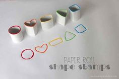 Toilet Paper Roll Shape Stamps | 25 Toilet Paper Roll Crafts