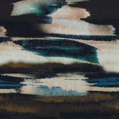 Viscose jersey abstrakt digitalt print
