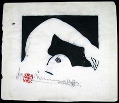 Shiko Munakata (1903-1975); Swimmer, 1953