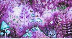 Johanna basford coloring page from Enchanted Forest. Mushroom Forest.  By AXL #johannabasford # coloring #enchantedforest