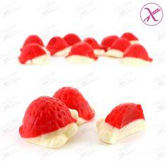 FRESONES RELLENOS NATA - Chuches online | Tienda de chuches, caramelos, golosinas, chocolates y frutos secos