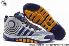 Cheap Discount Adidas adiPower Howard 3 Club Purple White Yellow G22669 Shoes Store