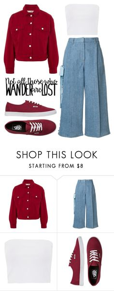 """""""When you have Sneakers + Double Denim..."""" by agirlwhosinlovewithpinkstuff ❤ liked on Polyvore featuring Topshop, Fendi and Vans"""