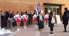 In an age old tradition, Tohoku University students wait at Sendai Station to cheer for those arriving to sit the university entrance exam. Good luck everyone!