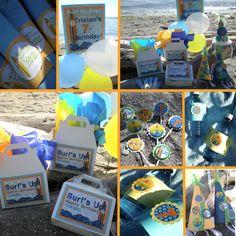 Cute for beach birthday party idea too.
