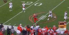 Clemson executes incredible fake punt pass to DT in Orange Bowl... #Clemsonfootball: Clemson executes incredible fake… #Clemsonfootball