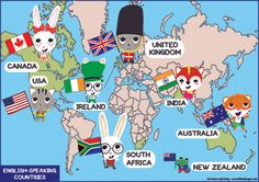 english speaking countries - Pesquisa Google