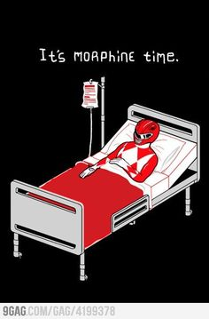 Morphine Power Rangers - Click image to find more Humor Pinterest pins
