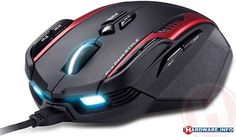 Genius Gila - MMO/RTS Professional Gaming Mouse (inspiration for the aggressive styling)