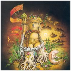 Patrick Woodroffe: Sleeve painting for 'Ross' on RSO records - 1974