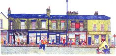 Harrogate Road-Chapel Allerton, screenprint by Simon Lewis