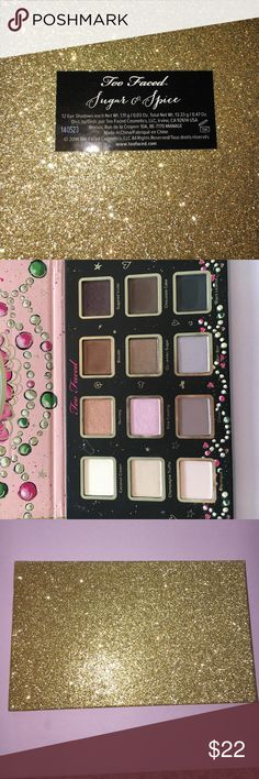 Too Faced Sugar and Spice Palette Gorgeous packaging and palette!! Used only a few times. Part of a Christmas collection. Comes with 12 eyeshadows Too Faced Makeup Eyeshadow