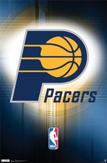 Indiana Pacers Basketball Official NBA Team Logo Poster - Costacos Sports Inc.-- #ProBasketball_IndianaPacers