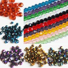 50-100-200Pcs-Czech-Glass-Faceted-Round-Loose-Spacer-Beads-Makings-3-4-6-8mm-DIY