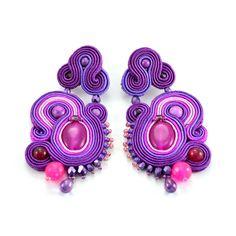 Soutache boucles d'oreilles Fuchsia Badak, ajoutera glamour à n'importe quelle tenue. Idéal pour le style de l'été, à la main par OzdobyZiemi sur Etsy https://www.etsy.com/fr/listing/210684610/soutache-boucles-doreilles-fuchsia-badak