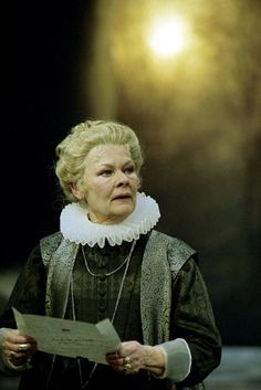 """Judi Dench as Countess Rousillon in Shakespeare's """"All's Well that Ends Well"""" RSC 2003 Shakespeare Shakespeare In Love, Royal Shakespeare Company, William Shakespeare, British Actresses, Actors & Actresses, Companion Of Honour, I Look To You, Hollywood Costume, Judi Dench"""