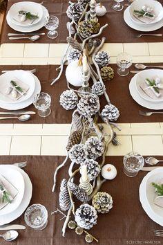 Winterliche Tischdeko ... die ihr heute sogar gewinnen könnt!