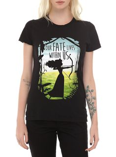 Disney Brave Our Fate Lives Within Us Girls T-Shirt | Hot Topic