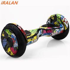 Hoverboard 10 אינץ 2 גלגל קטנוע איזון עצמי איזון קורקינט חשמלי שני גלגל סקייטבורד להיסחף עומד חכם מותג IRALAN