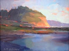 """Penasquitos Lagoon, Torrey Pines by Catherine Grawin Oil ~ 9"""" x 12"""""""