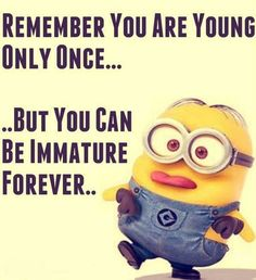It's all minions, for the love of Minion we have some great Humor Quotes from Minions . ALSO READ: 15 Top Funny Minions Pictures ALSO READ: Top 40 Minion Funny Pictures Minions Funny Images, Funny Minion Memes, Minions Love, My Minion, Minions Quotes, Minion Love Quotes, Minion Face, Minion Sayings, Minion Stuff