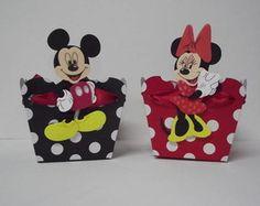 Centro de Mesa / Cachepô Minnie e Mickey