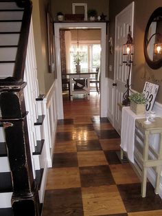 LOVE this makes me think of our entryway when it's finished. I love the colors and the the floor.