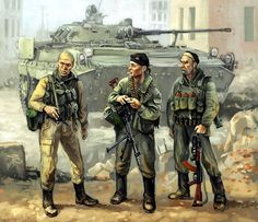 Soviet troops and tank crew in Afghanistan, Soviet-Afghan War