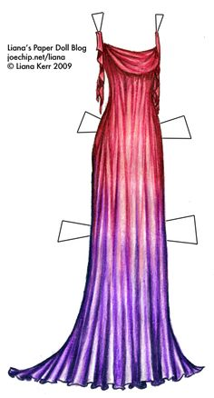 Halloween LOTR Costume Series #3: Draped Elf Dress in Pink and Purple | Liana's Paper Dolls